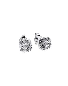 jewellery: 9KT White Gold 0,04ct Diamond Earrings!