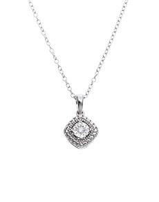 jewellery: 9KT White Gold 0,02ct Diamond Necklace!