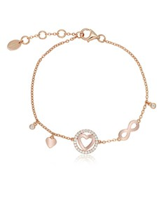gifts: Silver RG Heart and Infinity Cubic Bracelet!