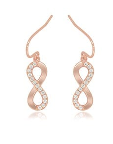 gifts: Silver Infinity RG Pave Drop Earrings!