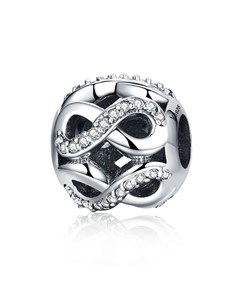Silver Open Infinity Cubic Charm