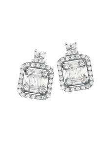 jewellery: Square Drop Illusion Diamond Earrings!