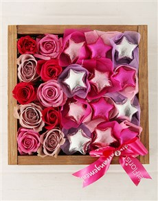 gifts: Playful Stars in Wooden Crate!