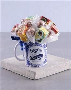 gifts: Mug Floral Arrangement Grandma!