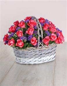 flowers: Pink Love Basket!