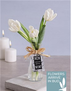 flowers: Tulips in Vase for Mom!