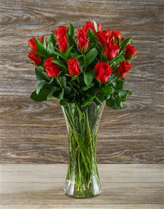 flowers: Red Roses in Flair Vases!