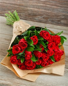flowers: Red Roses in Craft Paper Gift Best Seller!