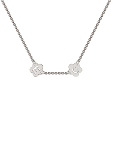 jewellery: Memi Personalised Mini 2 Flower Initial Necklace!