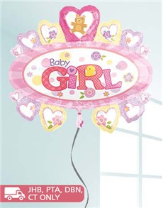 flowers: Jumbo Baby Girl Balloon!