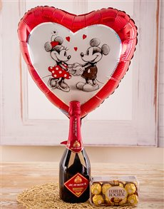 gifts: I Love you Minnie and Mickey!