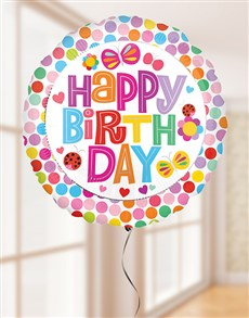 gifts: Happy Birthday Flower Balloon!