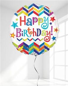 flowers: Happy Birthday Chevron Balloon!