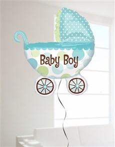 flowers: Baby Boy Buggy Super Shape Balloon!