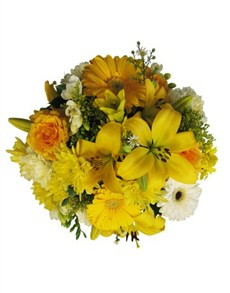 flowers: Yellow and White Bouquet!