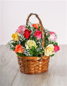 flowers: Country Mixed Rose Display!