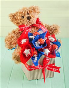 flowers: Teddy Chocolate Arrangement!
