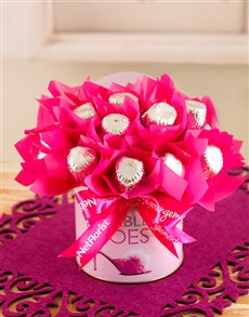 flowers: Silver & Pink Edible Arrangement!