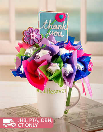 flowers: Thank You Biscuit Mug!