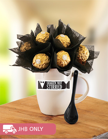 flowers: Shaken not Stirred Mug with Ferrero Rocher!