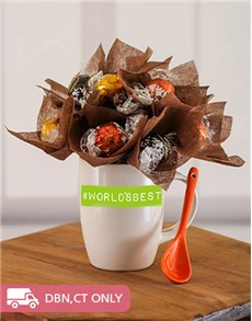 flowers: Worlds Best Lindt Edible Arrangement Mug!