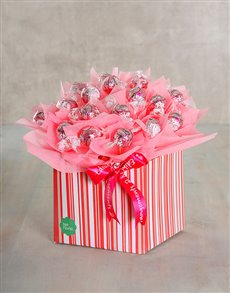 gifts: Perfect Pink Edible Arrangement!