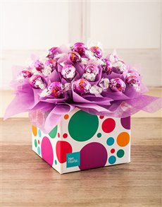 gifts: Purple Spotted Lindor Truffle Box!