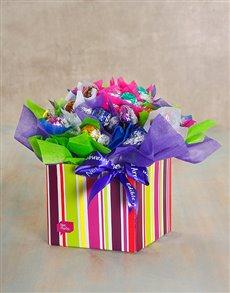 flowers: Rainbow Lindt Edible Arrangement!