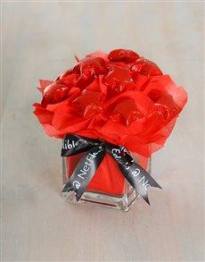 flowers: Crimson Edible Arrangement!