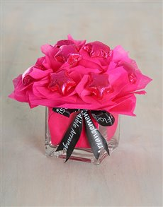 flowers: Cerise Chocolate Arrangement!