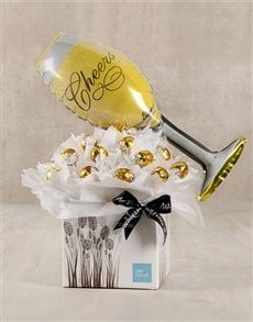 flowers: Cheers to Life White Lindt Box!