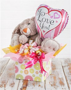 gifts: Rabbit Lindt and Love Balloon Box!
