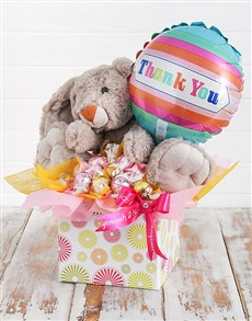 gifts: Rabbit Lindt and Thank You Balloon Box!
