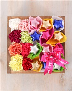 flowers: Mixed Carnations and Chocolate Star Crate!