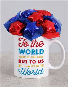 flowers: You Are The World Mug Arrangement!