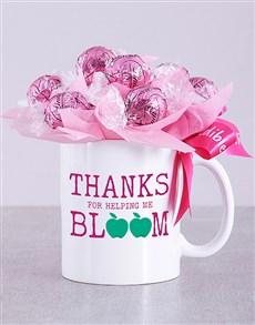 gifts: Bloom Pink Lindt Mug Arrangement!