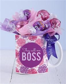 gifts: Call Me Boss Lindt Mug Arrangement!