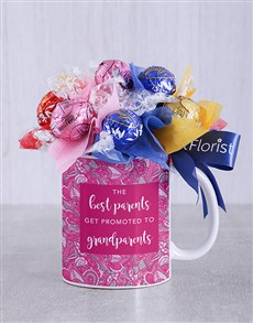 gifts: Best Grandparents Lindt Mug Arrangement!