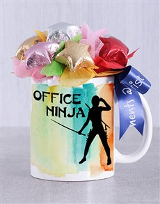 flowers: Office Ninja Choc Star Mug Arrangement!