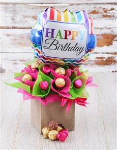 flowers: Pretty In Pink And Green Edible Arrangement!