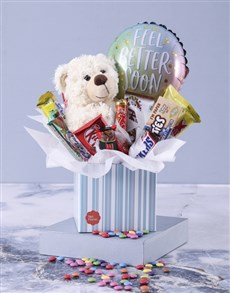 flowers: Get Well Teddy and Chocolate Box!