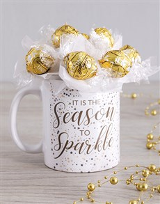 flowers: Season Sparkle Lindt Mug Arrangement!