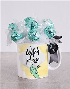 flowers: Witch Please Lindt Mug Arrangement!