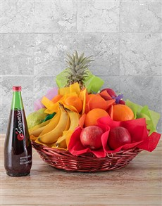 flowers: Seasonal Fruit and Sparkling Juice Gift!