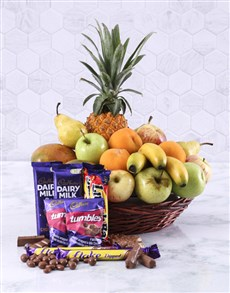 flowers: Fresh Fruit and Sweet Treats Basket!