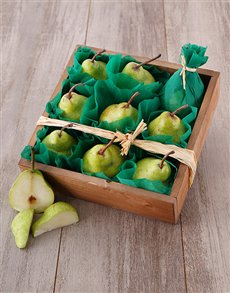 flowers: Wooden Pear Crate!