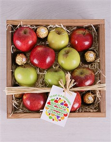flowers: Apple a Day and Ferrero Crate!