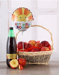 flowers: Get Well Soon Red Apple Basket!