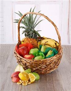 flowers: Tropical Fruit Basket!