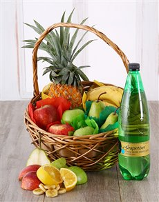 flowers: Tropical Fruit and Grapetizer Basket!